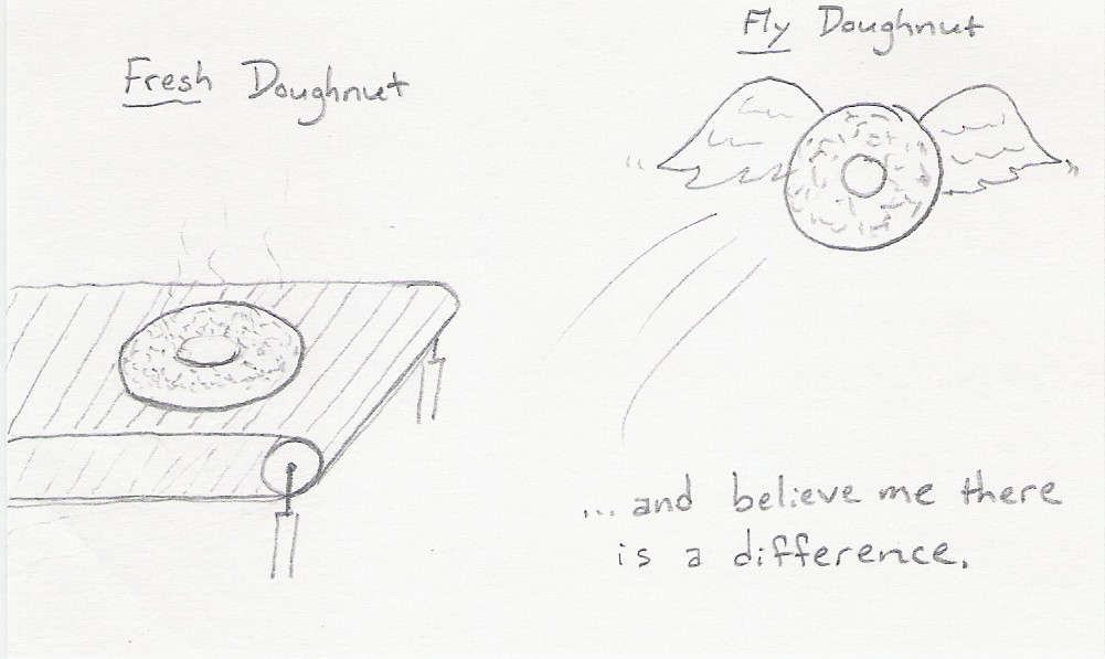 Fresh Donut vs. Fly Donut...and believe me there is a difference.