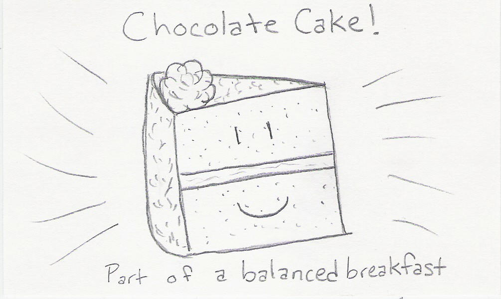 Chocolate Cake! Part of a balanced breakfast