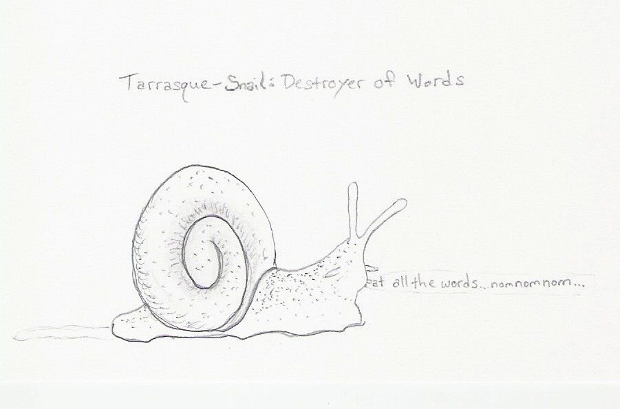 Tarrasque-Snail: Destroyer of Words