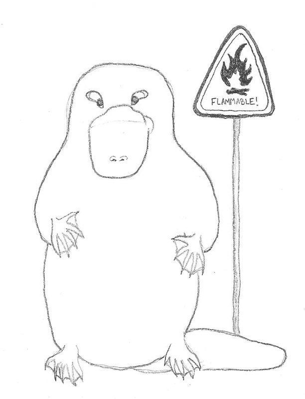 Flammable platypus
