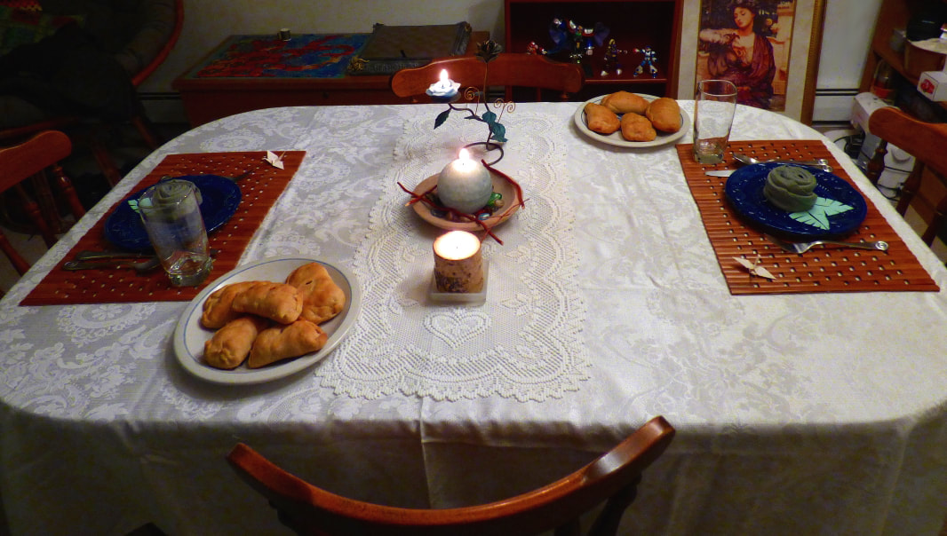 photo of the dinner table